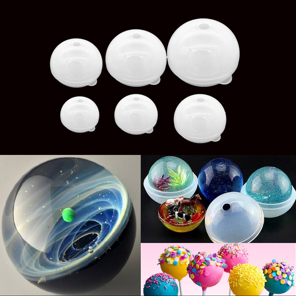 70mm Sphere Ball Silicone Mold Mould for DIY Resin Ornaments Craft Jewelry