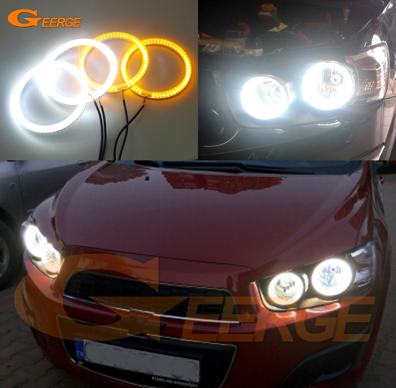 For Chevrolet AVEO Sonic T300 2011 2012 2013 2014 Excellent Ultra bright Dual Color Switchback smd