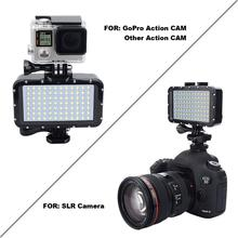50M 방수 수 중 LED Gopro 캐논 SLR 카메라에 대 한 HighPower 플래시 라이트 채우기 램프 다이빙 비디오 조명 마운트 R29