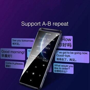 BENJIE M6 Bluetooth 5.0 MP3 sem perdas MP16 Player de 3 GB Hi-Fi Walkman de áudio portátil com rádio FM EBook Gravador de voz MP1 Player de música XNUMX
