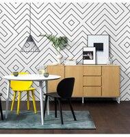 Nordic Style Wallpaper Fashion Living Room Bedroom Simple Modern Black and White Grid Irregular Line Background Wallpaper