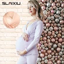 SLAIXIU Pregnant Women Pajamas Clothes Set For Postpartum Ma