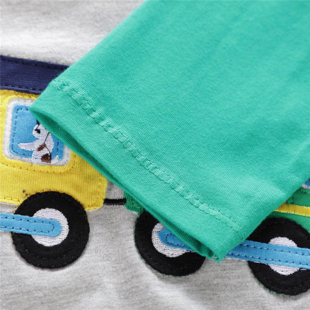 Littlemandy Boys T shirt Ubrania dla dzieci 2018 Dinozaur Animal Kids - Ubrania dziecięce - Zdjęcie 6