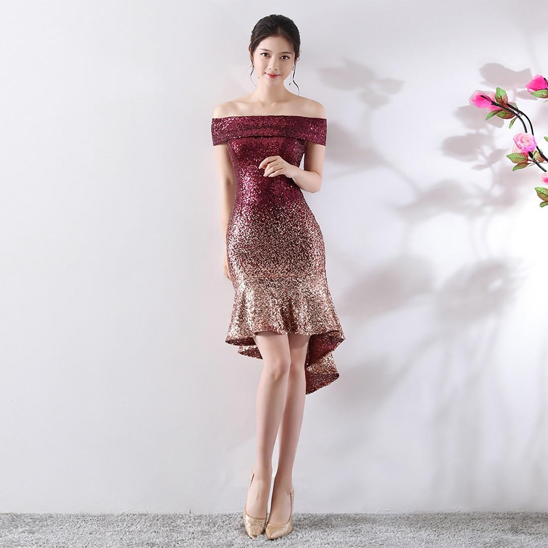 Sexy moulante Robe femmes été automne luxe hors épaule Robe de soirée robes Asymmetrica Slim Vestidos