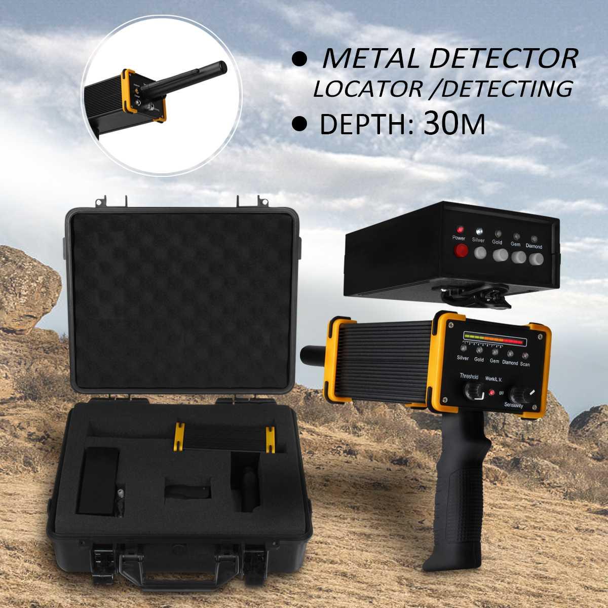 30 m Profundidade Detector de Metais do solo máquina com Caixa de Embalagem Equipamento detector de Ouro Prata Diamante de metal À Prova D' Água