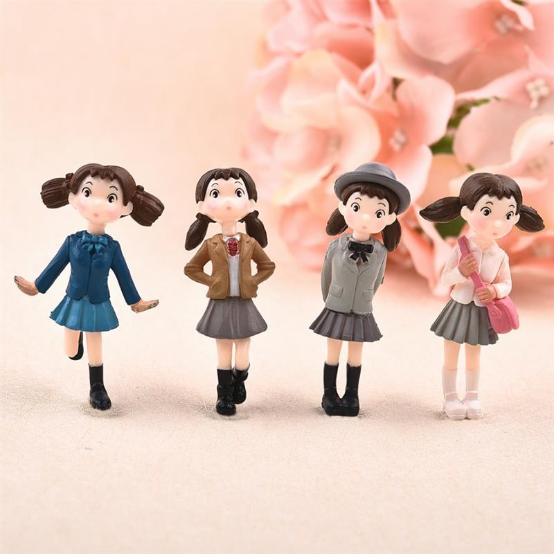 Хит, 4 шт./компл., сказочные садовые фигурки, миниатюрные Hayao Miyazaki Angel, для девочек, изделия из смолы, орнамент, мох, террариумы, украшение
