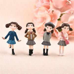 Hot 4Pcs/Set Fairy Garden Figurines Miniature Hayao Miyazaki Angel Girls Resin Crafts Ornament Gnomes Moss Terrariums Decoration(China)