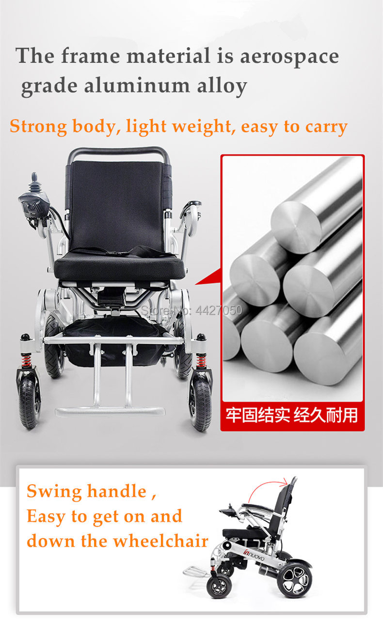 2019 Free shipping folding electric font b wheelchair b font for font b disabled b font