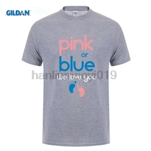 GILDAN Pink OR Blue We Love You Gender Reveal Baby Shower T Shirt