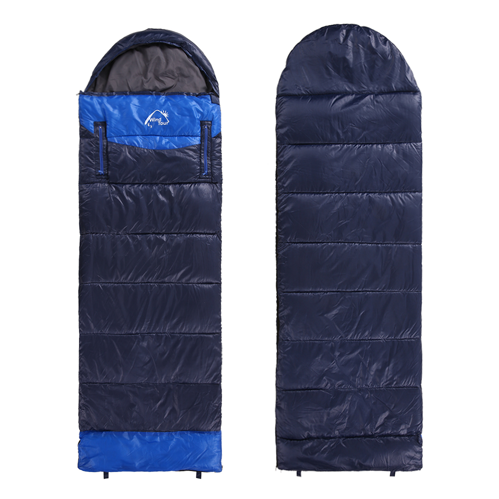 Thickened Cotton Sleeping Bag Winter Warm Outdoor Camping Travel Hiking Sleeping Bag Split Joint Hands Arm