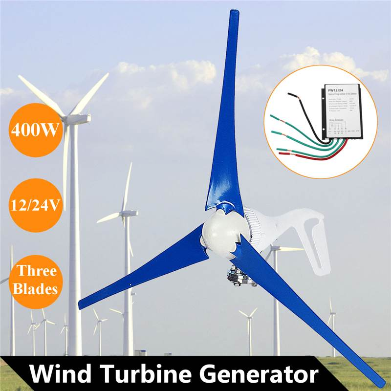 12V 24V 400W Wind for Turbine Generator Three Wind Blades for Home Or Camping Alternative Energy Generators rik degunther alternative energy for dummies