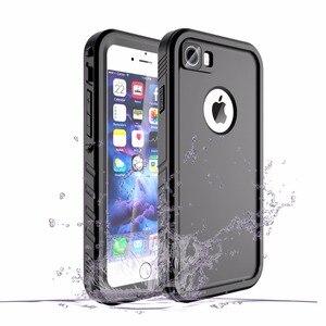 Image 2 - IPhone 7 için su geçirmez kılıf iPhone 8 darbeye dayanıklı yüzme dalış kar geçirmez kapak iPhone 7 8 sualtı koruyucu kılıf