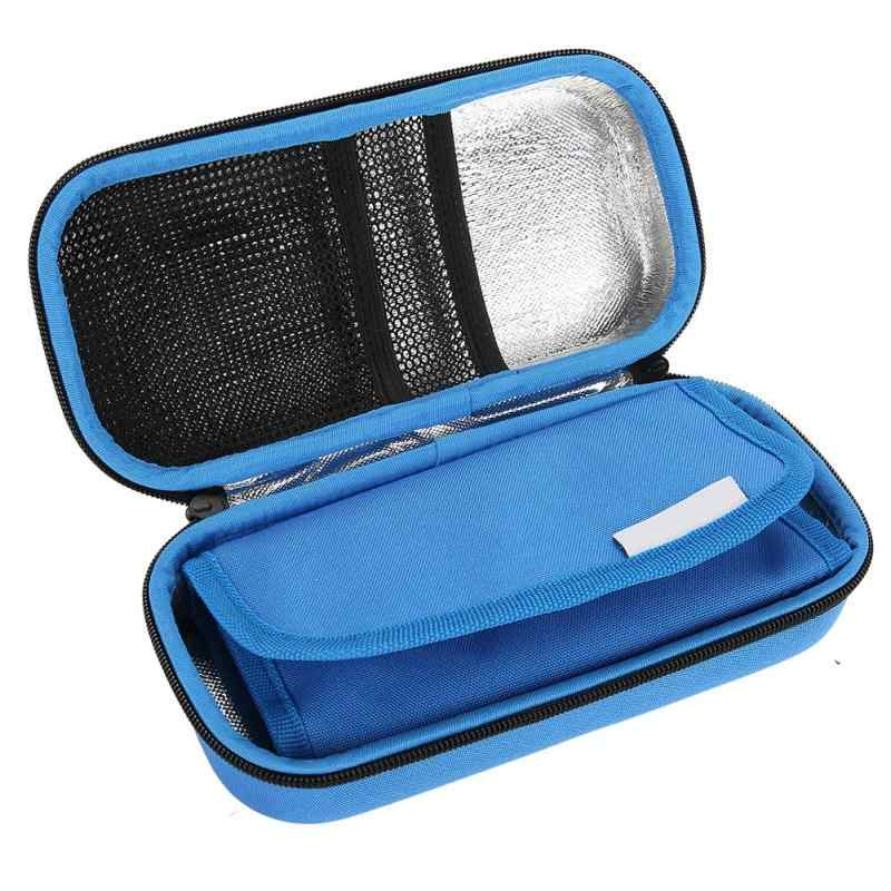 EVA Temperature Display Insulin Cooler Travel Case with Ice Chill Packs Medical Cooler Bag Diabetic Organizer Storage Bag