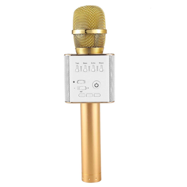 FFYY-KTV Cantare con il Karaoke OK Microfono Q9 Microfoni Senza Fili di Bluetooth Con Altoparlante Mini Casa KTV Allaperto Per Il IphoneFFYY-KTV Cantare con il Karaoke OK Microfono Q9 Microfoni Senza Fili di Bluetooth Con Altoparlante Mini Casa KTV Allaperto Per Il Iphone
