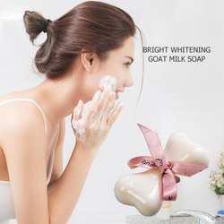 Отбеливание козье молоко и мыло очиститель для удаления увлажняющий мыть Косметическое Мыло душистые мыла для подарков инструмент кожи