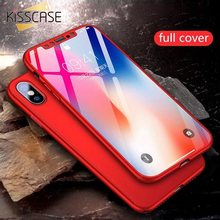 KISSCASE 360 Full Cover Phone Case For Xiaomi Redmi Note 7 4 4X 4A 5A 5 Plus 6 Pro Case For Xiaomi Mi 8 Lite Pocophone F1 Cases(China)