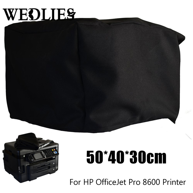 Polyester-cotton Dust Cover For OfficeJet Pro 8600 Printer Chair Table Cloth Black Outer Silver-grey Lining 20x16x12''