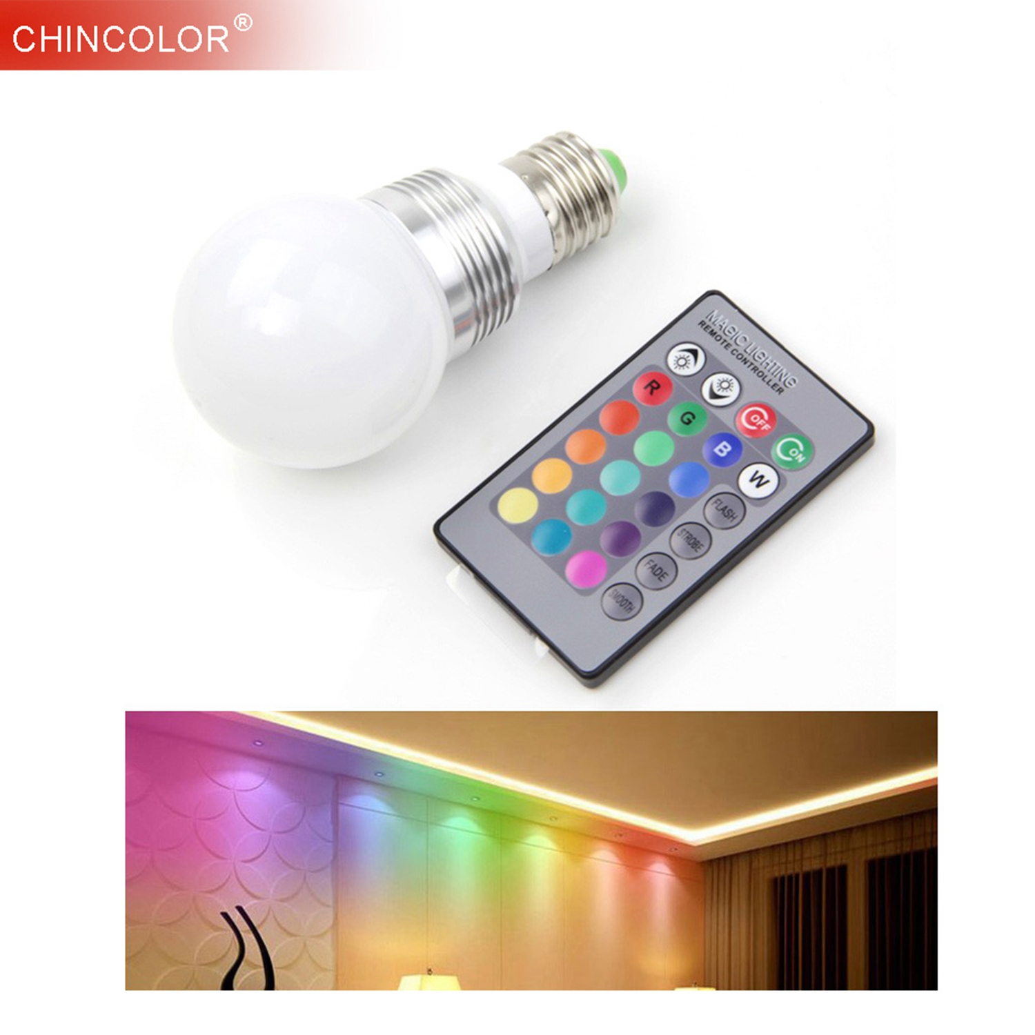 10w Led Bulb Rgb Lamp With Remote Control 16 Color 9w Ac110v 220v E27 E14 B22 Multiple Colour Led Lighting Fast Ship Jq Drip-Dry