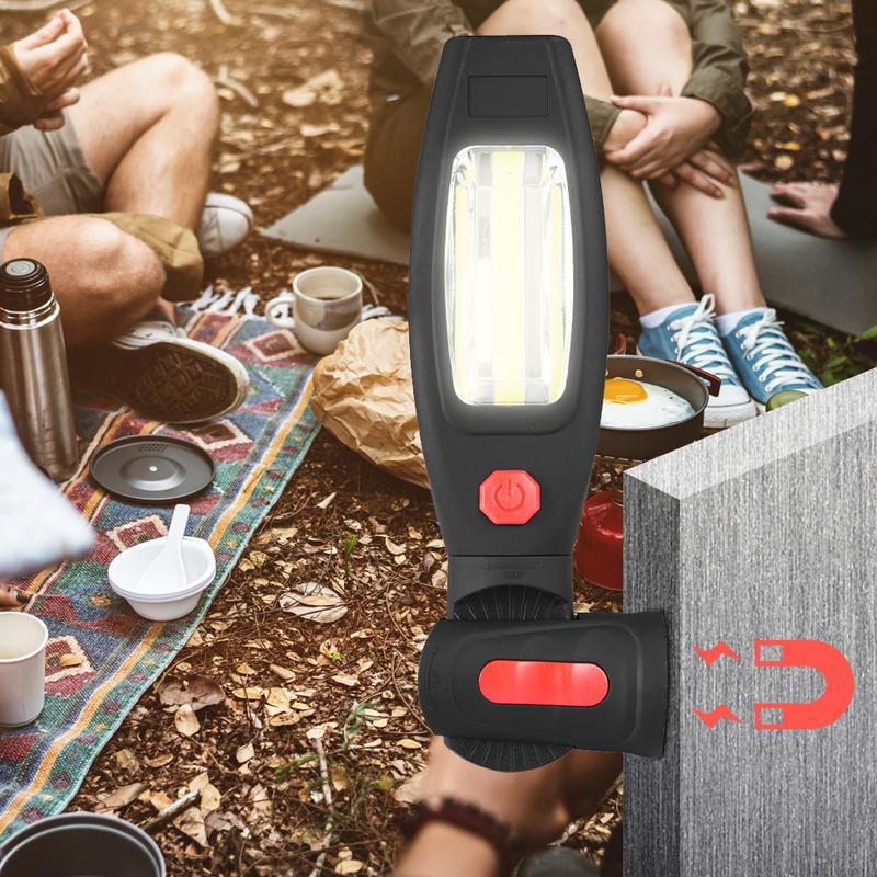 1 * Cob Led + 1*1 Watt Led Arbeit Licht 2 Modus Usb Aufladbare Taschenlampe Magnet Tragbare Scheinwerfer Taschenlampe Eingebaute Batterie Lampe