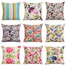 HGLEGYW Retro Digital Printing Pillow Case Throw Pillowcase Cotton Linen Printed Pillow Covers For Office Home Textile(China)