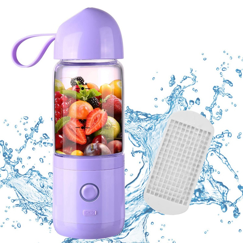 Portable Blender Usb Rechargeable Portable Blender Juicer Cup  Single Serve Fruit Mixer Multifunctional Small Travel Blender