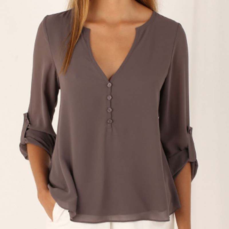 69aca9b1ff3c3 Women s Shirt Womens Tops and Blouses Plus Size Chiffon Office Women Blouse  Shirt Women Blusa Feminina Roupa Feminina Clothes