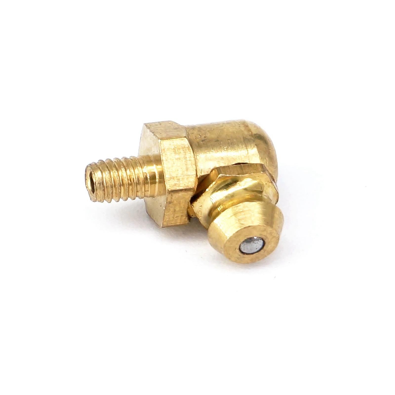 M5 Metric Male 90 Degrees Brass Grease Zerk Nipple Fitting For Grease Gun Machine Tool Accessories