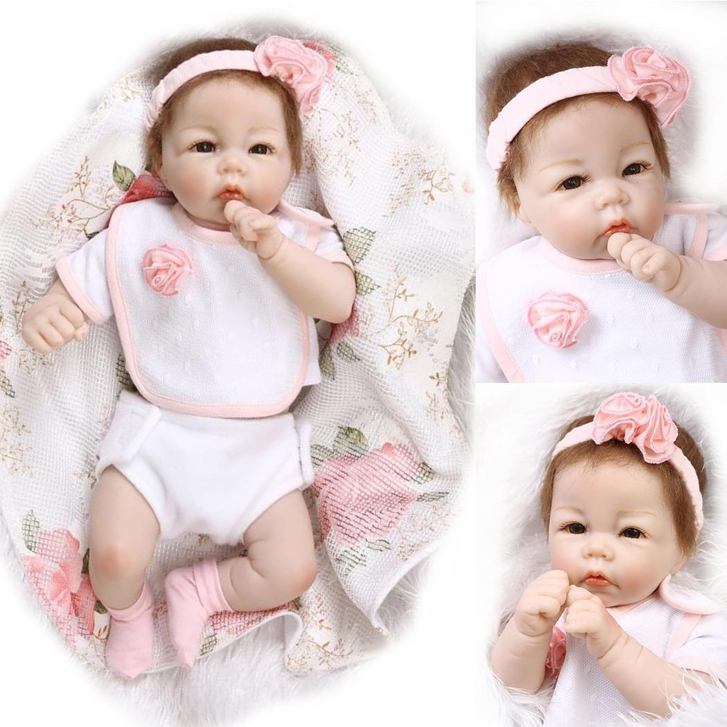 soft Vinyl Silicone reborn baby doll Cute Girl Toys boneca For Children Birthday new year Giftsoft Vinyl Silicone reborn baby doll Cute Girl Toys boneca For Children Birthday new year Gift