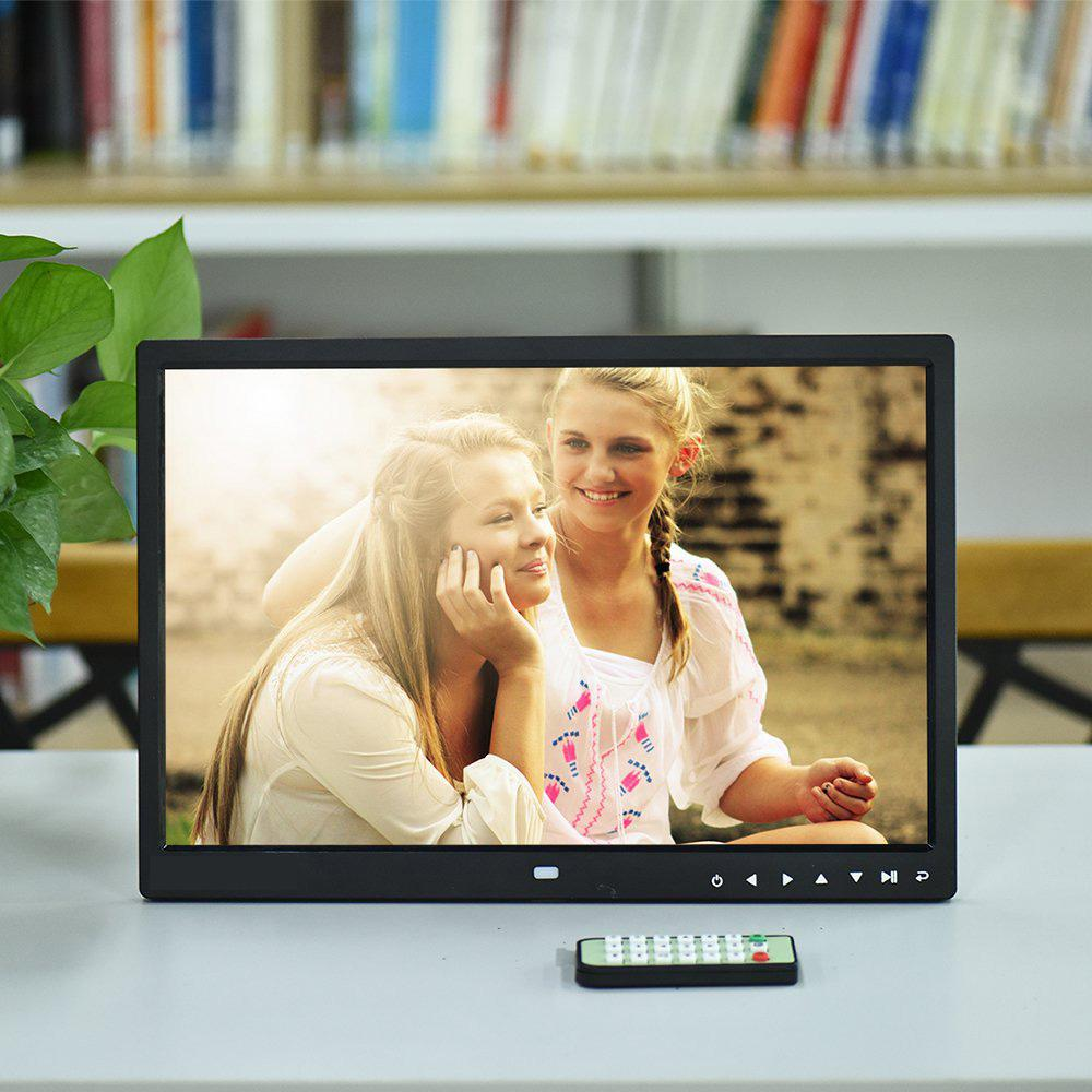 BEESCLOVER 15 inch Digital Picture Photo Frame 1280x800 HD Resolution 16 9 Wide Picture Screen Clear