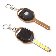 CLAITE Mini Flash lights COB LED Key Chain Flashlight Portable Keyring Light