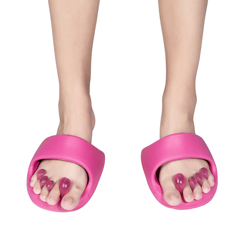 99240b571383 ... 1Pair Weight Loss Foot Massager Shoes Anti Cellulite Massage Slippers  Slimming Toe Shoes Dieting Legs Slippers ...