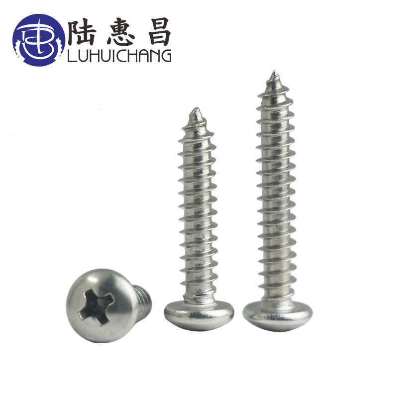 color negro tornillo de cabeza redonda Luchang 1000 tornillos de cabeza redonda M2.3 M2.6 M3 PA con cabeza redonda y cabeza redonda para madera