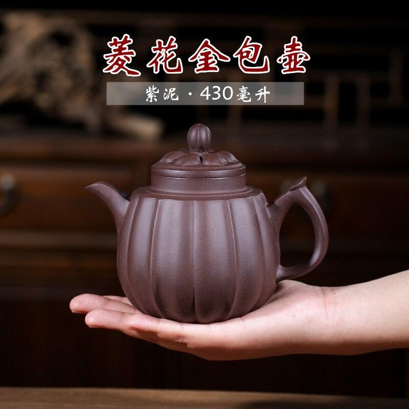 Hundred Believe Dark red Enameled Pottery Teapot Yixing Gift Raw Ore Purple Mudstone Paukkyin Kettle Technology Teacher's Pot Teapots     - title=