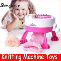 Dongzhur DIY Manual Hats Scarves Knitting Machine Toys For Kids Gifts Children Girls Weaving Loom Toy Wool Weaver Toys DIY1715