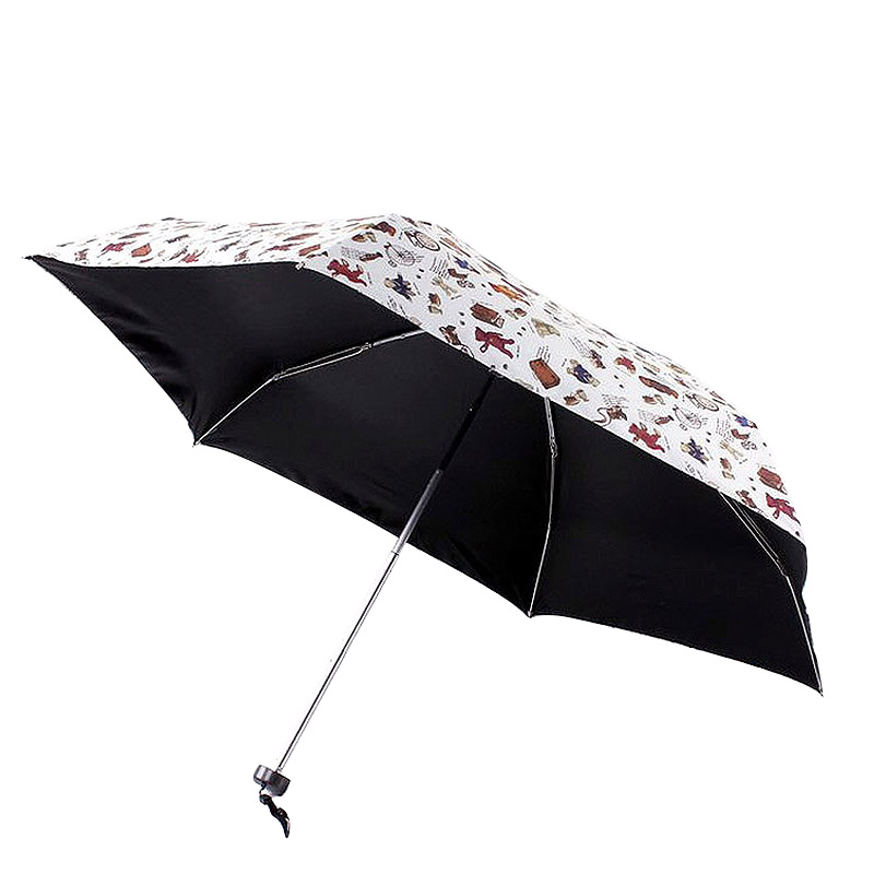 Home Delicious Cute Small Umbrella Kids Toys Pockets Bear Animal Black Coating Folding Uv Umbrella Rain Parasol Cheap Mini Sun Beach Umbrella