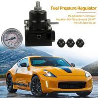 car Accessories0 100 PSI Adjustable Fuel Pressure Regulator 6AN Fitting Universal 1/8 NPT Port with Boost Gauge 120*110*80 mm
