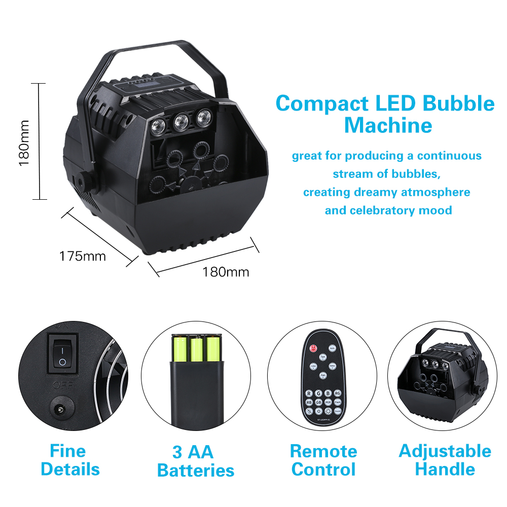 Image 5 - LED Laser Stage Lights Wireless Remote Control Bubble Machine Automatic Romantic Effect Light for Wedding Parties Festivals-in Stage Lighting Effect from Lights & Lighting