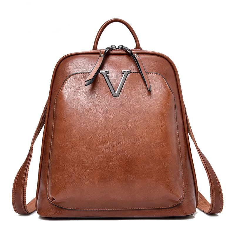 New Vintage Lady Multifunction Backpack Women Backpack High Quality Female Leather Brand Shoulder Bag Hot School