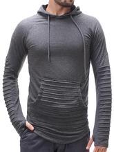 2019 New Pattern Mens Self-cultivation Body-building Stripe Slimming Catch Down Even Hoodie Male sweatshirts men Hot Sale