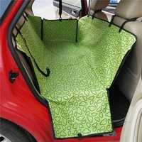 Dog Beds Car Oxford Fabric Head Pattern Green Seat Cover Dog Car Seat Carrier Waterproof Pet Mat Hammock Cushion Protector SP