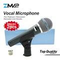 2 шт. высокое качество версия супер-кардиоидный живой вокал Караоке динамический 58A проводной микрофон Podcast Microfone Voiceover Mic