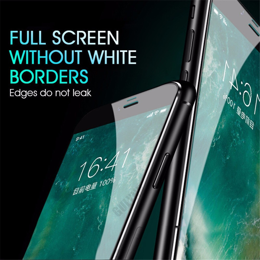 GULYNN 6D Aluminum Alloy Tempered Glass For iPhone 6 6S 7 8 Plus Full Screen Protector Film For iPhone X 8 7 6 Glass Cover 9H in Phone Screen Protectors from Cellphones Telecommunications