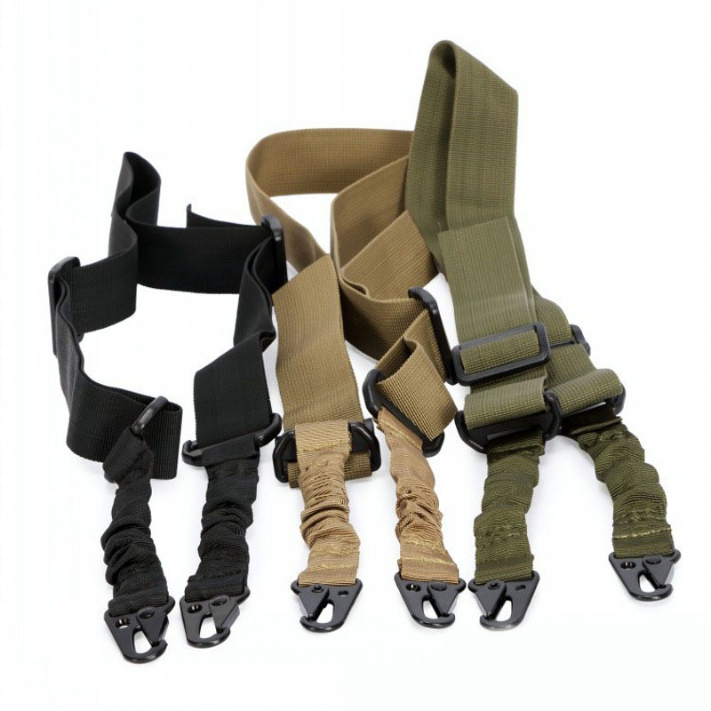 Image 3 - Tactical 2 Point Bungee Rifle Gun Sling Strap 1.4m Airsoft Military Hunting System Universal Strap Heavy Duty-in Hunting Gun Accessories from Sports & Entertainment