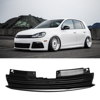 Car Front Badgeless Debadged Sport Black Grille For Volkswagen GOLF MK6 2008-on grille