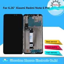 "6.26"" Original M&Sen For Xiaomi Redmi Note 6 Pro LCD Display Screen With Frame+Touch Panel Digitizer For Redmi Note 6 Display"