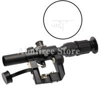 Tactical 4x26 Red Illuminated Riflescope Sight for Dragonov SVD Sniper Rifle Series AK Rifle Scope Outdoor Hunting