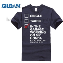 GILDAN In The Garage Working on My Honda Mens Funny Biker T Shirt T Shirt Fashiont Shirt  Top Tee Hot Cheap Men'S стоимость