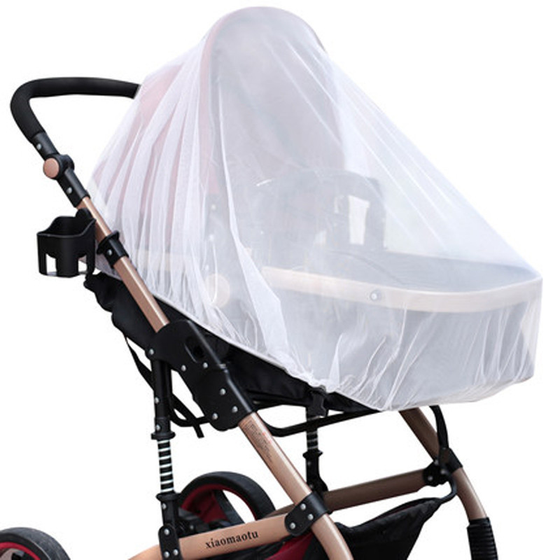 Infants Baby Stroller Pushchair Mosquito Insect Net Safe Mesh Buggys Crib Netting Cart Mosquito Net Pushchair Full Cover Netting
