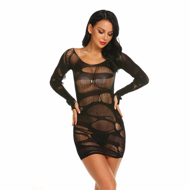 d8826a5b4d5 ... Sexy Baby Doll Lingerie Lace Erotic Women Plus Size Nightwear Chemise  Costumes Black Exotic Perspective Underwear ...