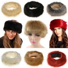 Invierno imitación de piel de zorro sombrero las mujeres grueso cálido  suave gorras de piel diadema bcb36551a110